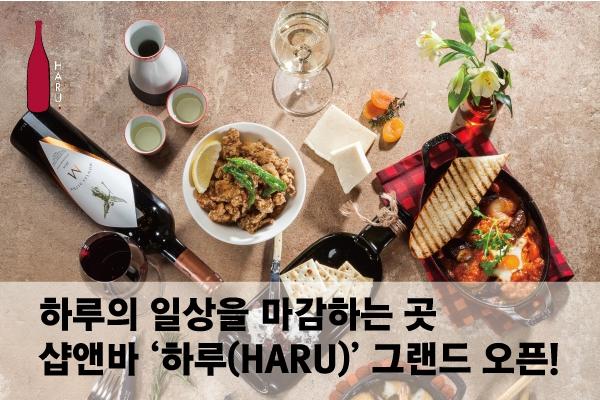하루 일상을 마감하는 곳, 샵앤바 '하루(HARU)' 그랜드 오픈!